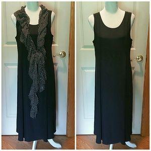BALLINGER GOLD 100% Silk dress. Size Large